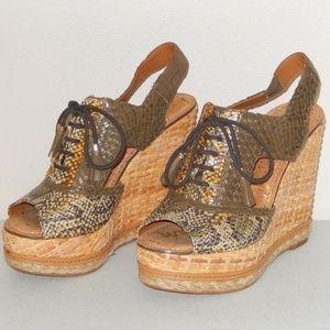 Sam Edelman Tinley Lace Up Platform Wedge Sandals